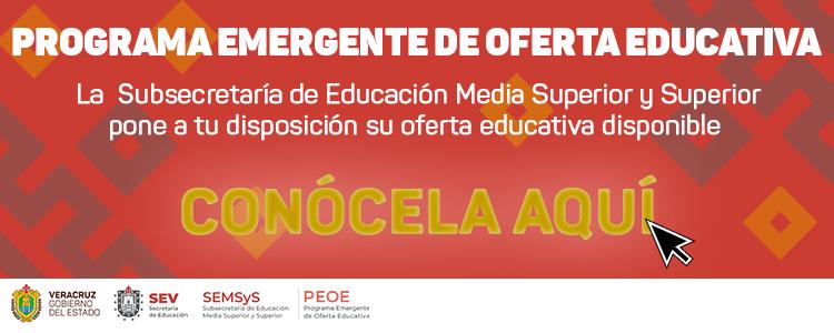 Programa Emergente de Oferta Educativa 2019-2020
